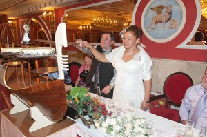 boda salones venecia tarta góndola